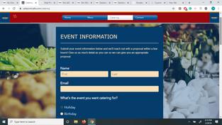 catering ordering system - website - online ordering