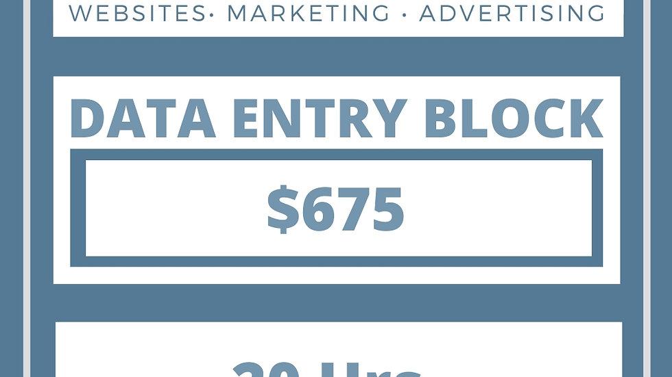 Data Entry Block