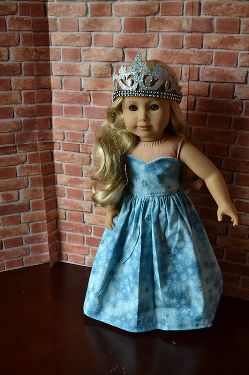 Blue Silver Sparkle Ice Princess for 18 inch Dolls