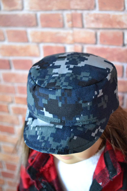 Navy Camouflage Cadet Cap for 18 inch Dolls