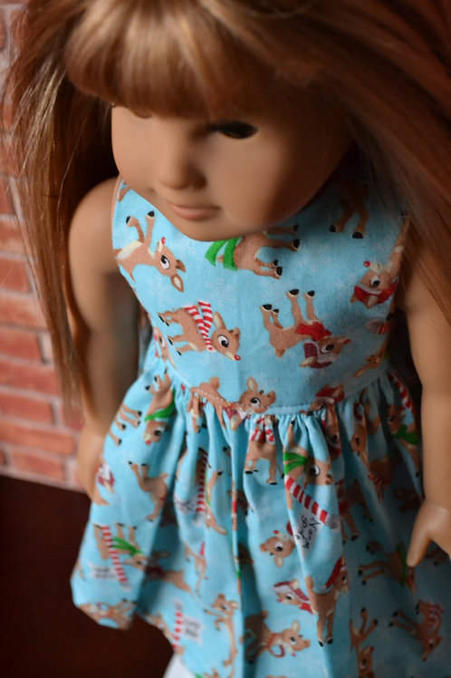 Reindeer Pals Dress for 18 inch Dolls