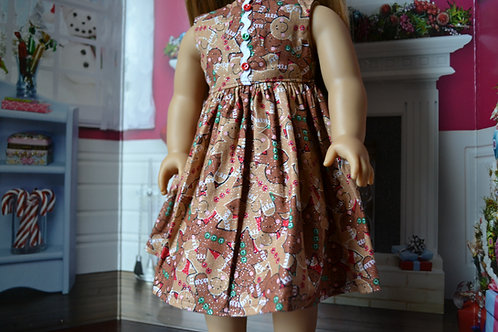 Sparkle Gingerbread Dress for 18 inch Dolls