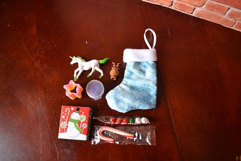 Holiday Stocking - Blue Sparkle Snowflake