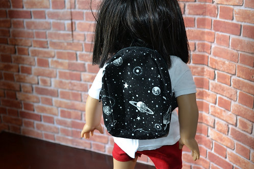 BACKPACK - Black Galaxy for 18 inch Doll