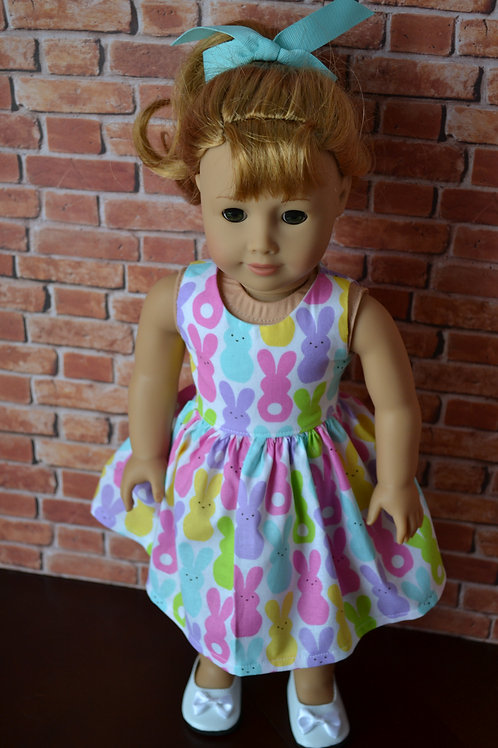 Pastel Peeps Doll Dress for 18 inch Dolls