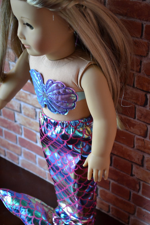 Mermaid Costume for 18 inch Dolls