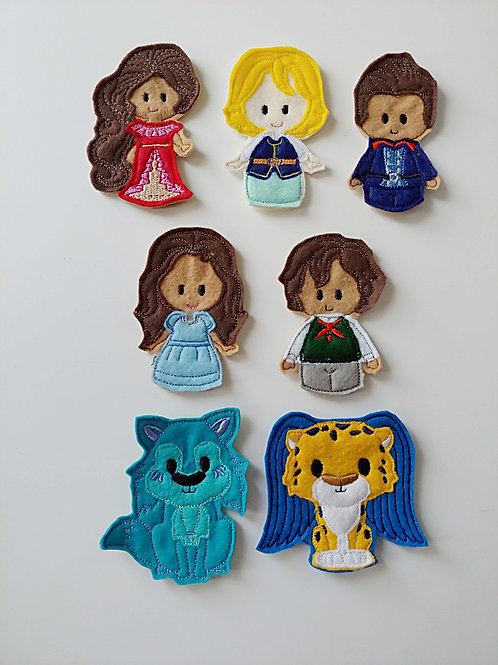 Elena & Friends - Embroidered Felt Finger Puppets