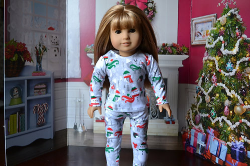 Woodland Winterland PJs/Pajamas for 18 inch Doll