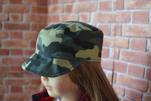 Army Camo Cadet Cap for 18 inch Dolls