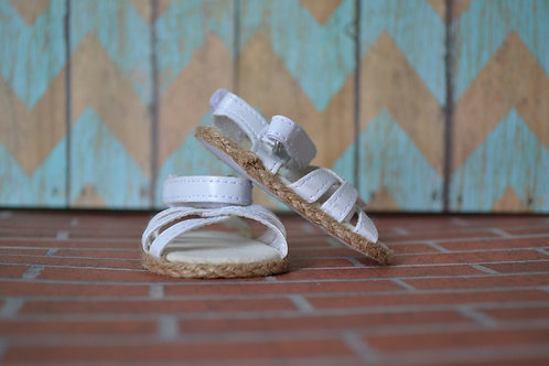 White Criss Cross Sandals