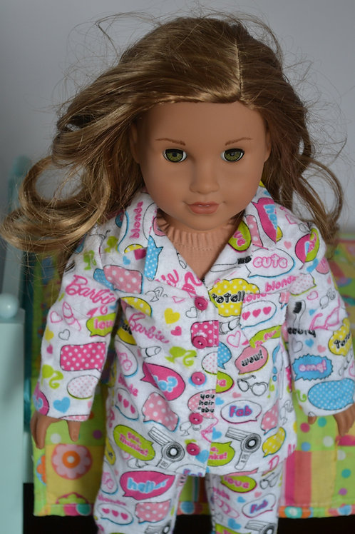Fashion Doll Pajamas for 18 inch Dolls
