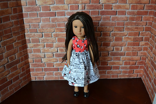 Mouse Friends - Red Bodice Doll Dress for 14.5 inch Dolls