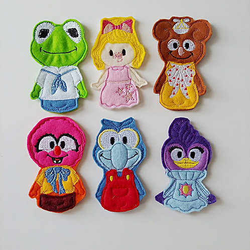 Muppet Friends - Embroidered Felt Finger Puppets