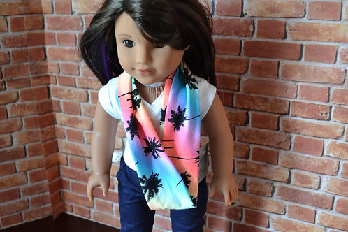 Beach Palms Infinity Scarf for 18 inch Dolls