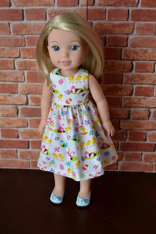 Spring Bunnies Doll Dress for 14.5 inch Dolls