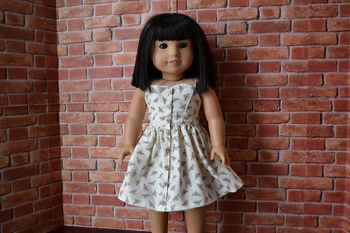 Busy Bees Button Front Sundress Dress for 18 inch Dolls