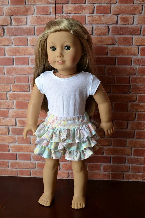 Paisley Flirty Skirt for 18 inch Dolls
