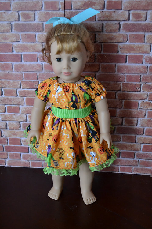 Halloween Party - Peasant Dress for 18 inch Dolls