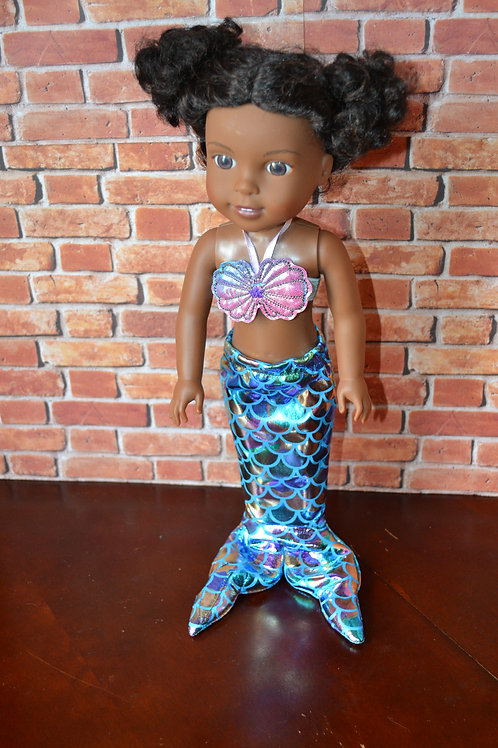 Mermaid Costume for 14.5 inch Dolls