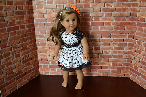 Halloween Bats - Peasant Dress for 18 inch Dolls
