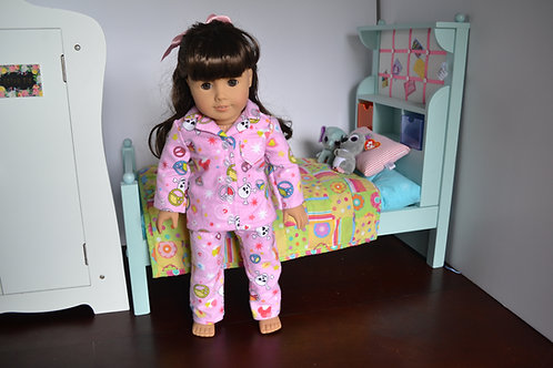 Peace Love Skulls Pajamas for 18 inch Dolls