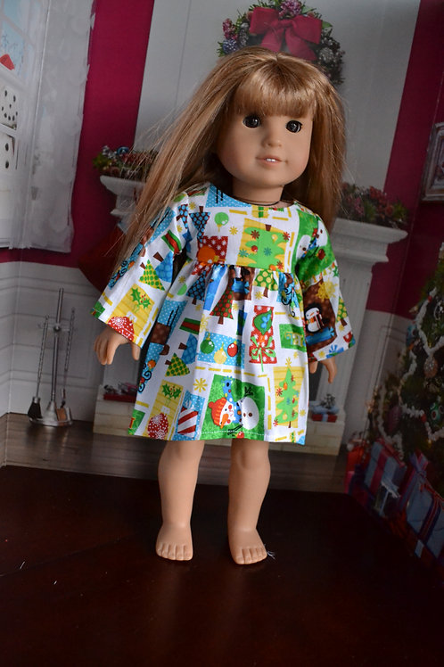 Holiday Swing Dress for 18 inch Dolls
