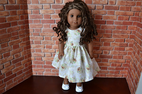 Vintage Bunnies Doll Dress for 18 inch Dolls
