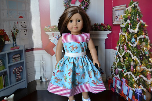 Reindeer Games Dress for 18 inch Dolls
