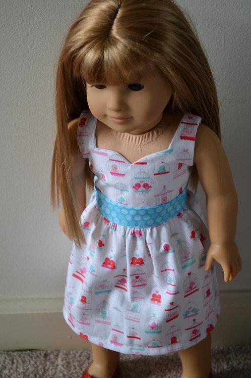 Love Birds Sweetheart Dress for 18 inch Dolls