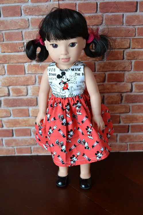 Mouse Friends - White Bodice Doll Dress for 14.5 inch Dolls