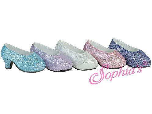 Sophia's® Glittery Platform High Heels