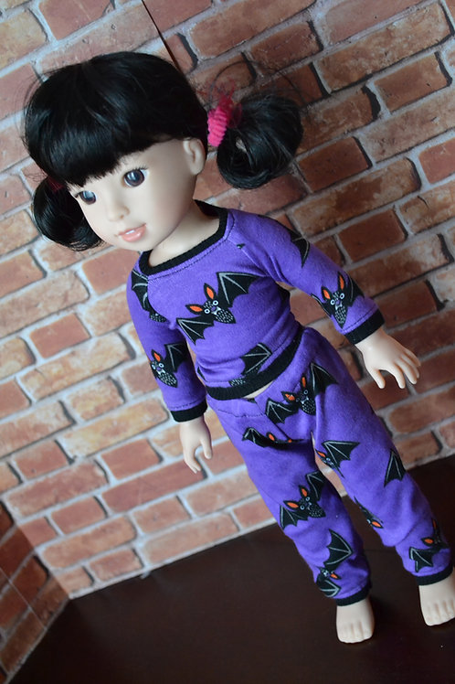 Halloween Bat Pajamas for 14.5 inch Dolls
