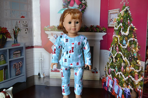 Fa La Llama PJs/Pajamas for 18 inch Doll