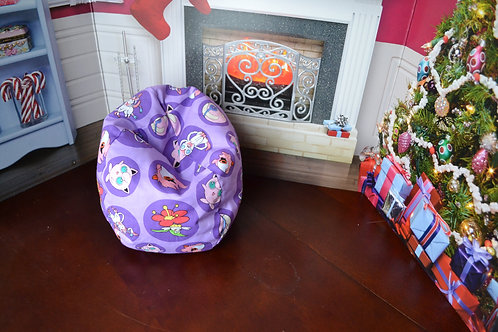 Bean Bag Chair - Purple Fairy Monster