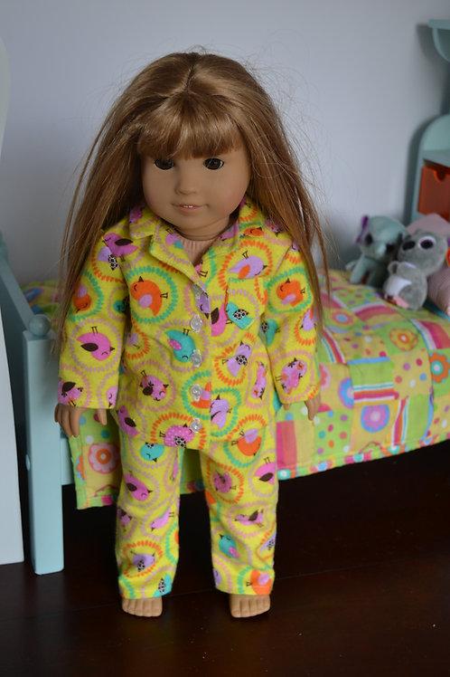 Tweet Birds Pajamas for 18 inch Dolls