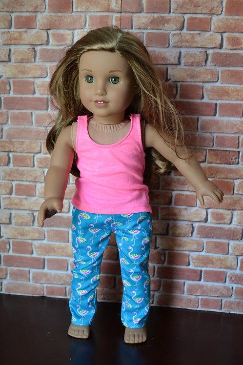 Blue Flamingo Chinos for 18 inch Dolls