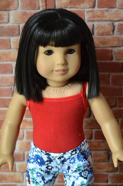 Red Tank Top Bodysuit for 18 inch Doll