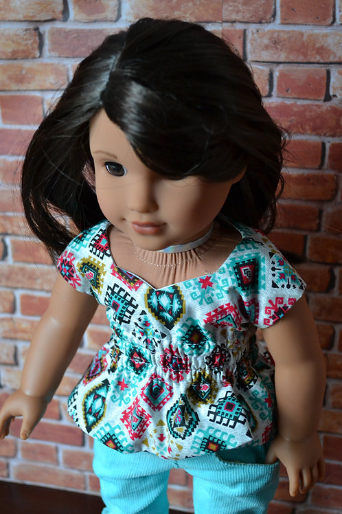 Sante Fe Sweetheart Top for 18 inch Dolls