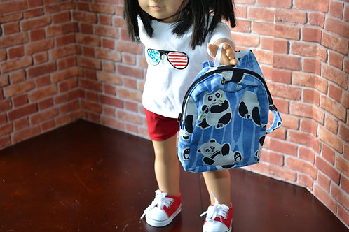 BACKPACK - Pandas for 18 inch Doll