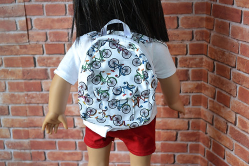 BACKPACK - Bicycles for 18 inch Doll