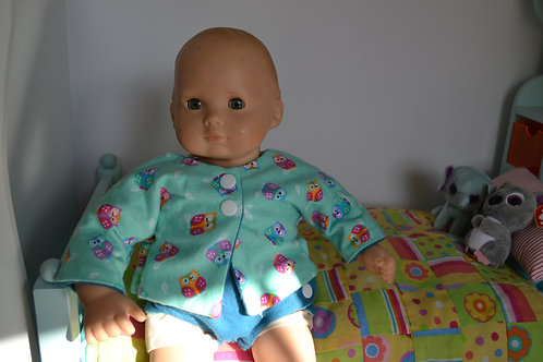Kimono Top - YOU CHOOSE Owl or Baby for Baby Dolls