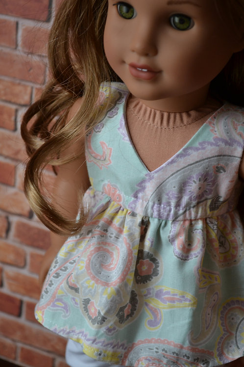 Paisley Salina Top for 18 inch Dolls
