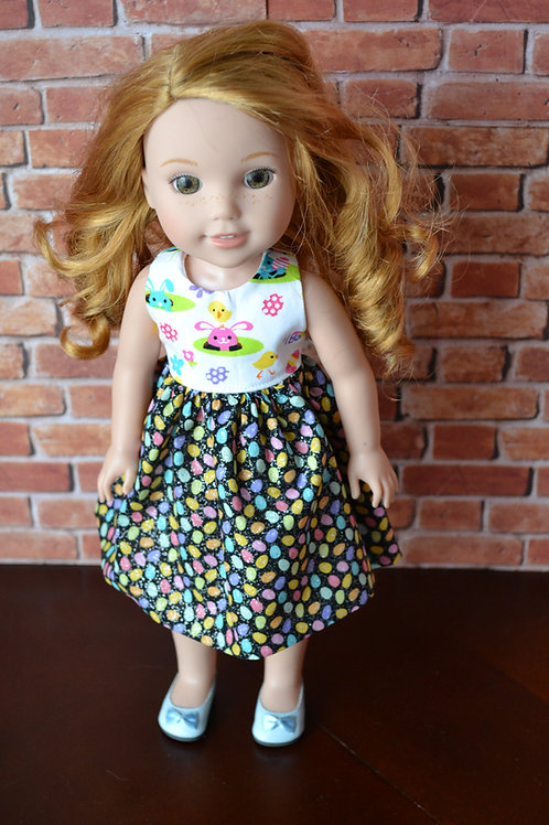 Bunny Eggs Doll Dress for 14.5 inch Dolls