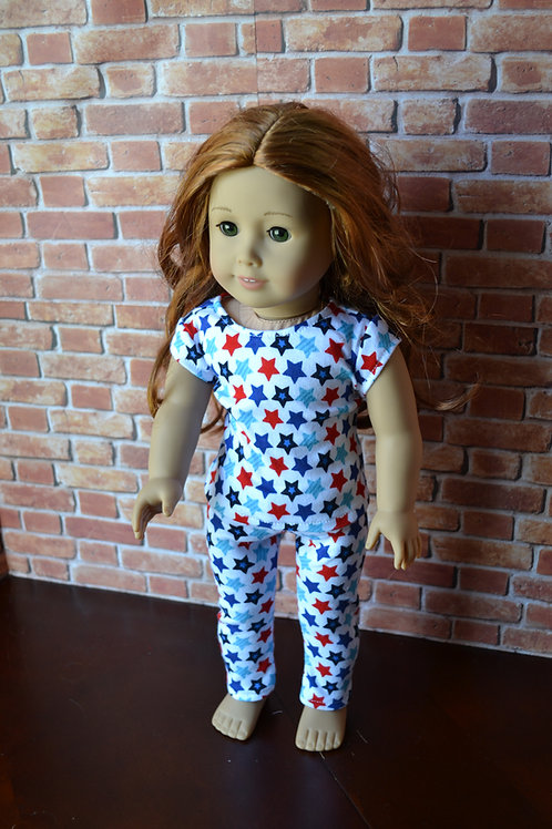 USA Star PJs/Pajamas for 18 inch Dolls