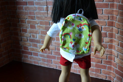 BACKPACK - Rainbow Meadow for 18 inch Doll