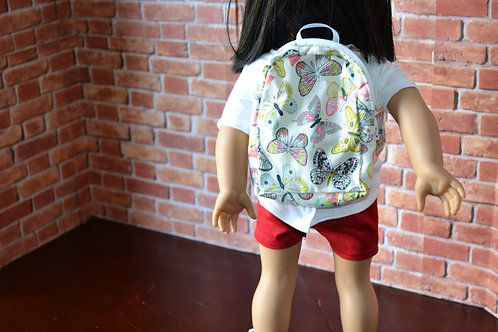 BACKPACK - Butterflies for 18 inch Doll