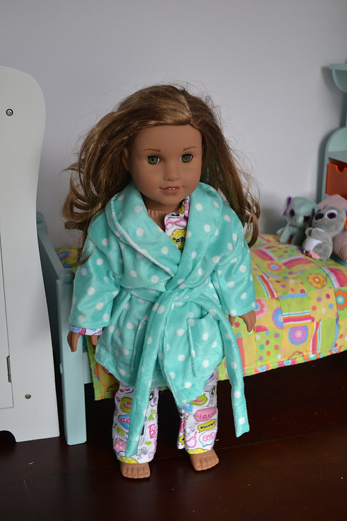 Polka Dot Robe for 18 inch Dolls