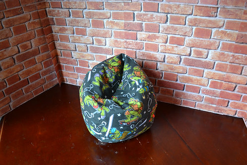 Bean Bag Chair - Cartoon Turtle Hero