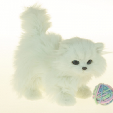 """White Kitty, Accessories For 18"""" Girl Doll"""
