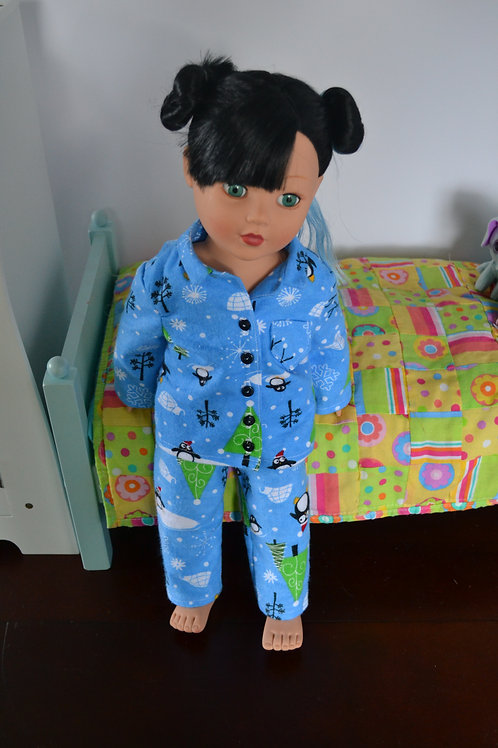 Penguin Igloos Pajamas for 18 inch Dolls